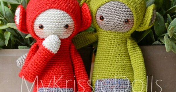 Teletubbies Knitting Pattern : Krissie the Teletubbies - MyKrissieDolls http://www.ravelry.com/patterns/libr...