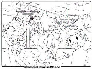 Gambar Mewarnai Hari Kemerdekaan Indonesia Dengan Gambar Buku