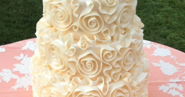 rosette wedding cake by my sisters cakes in gilbert az wedding