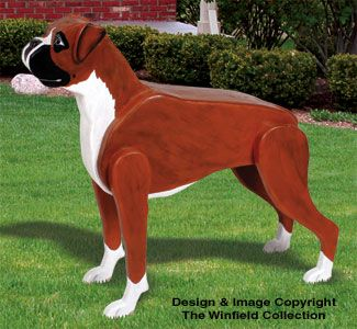 3d Life Size Boxer Woodcraft Project Plan Wood Crafts Wood Craft Patterns Animal Projects
