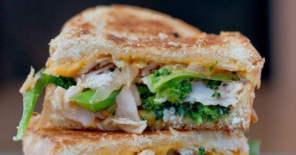 broccoli cheddar soup grilled sandwich.