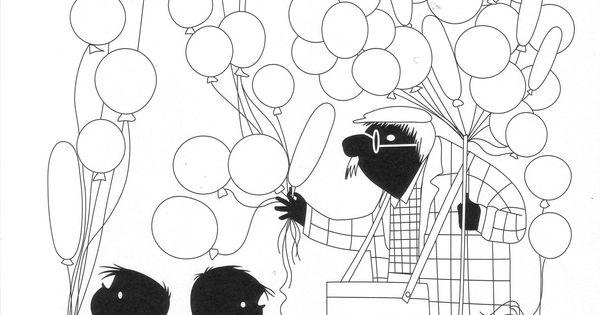 jip en janneke ballonnen cadeautje kleurplaat
