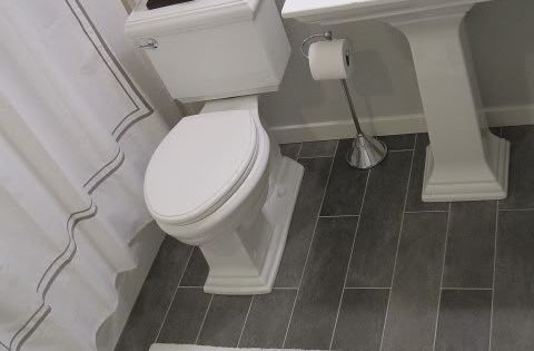 Basement bathroom idea, love the floor tiles