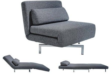 S Chair Charcoal Tweeds Convertible Chair Bed Sleeper Chair Sofa Bed Futon Chair Futon Living Room