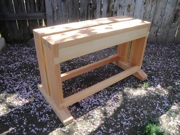 Split Top Sawbench Video And Pics Woodworking Workbench Handyman Projects Woodworking