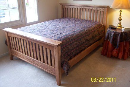 Arts And Crafts Bed Furniture Mission Style Bedrooms Bed Plans