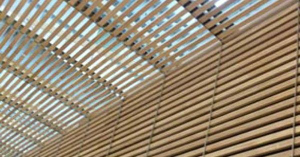 XILO1934 wood façade & brise-soleil roof. Installation for ...