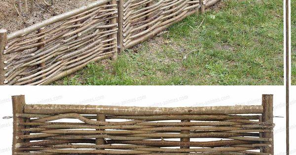 Bordure noisetier avec tige branches for Bordure en noisetier tresse
