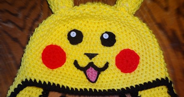 Pikachu Crochet Hat Free Pattern Google Search Crochet