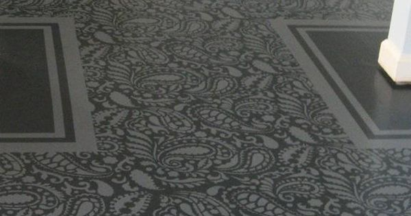 Floor Stencil Stencils Pinterest Stenciling Wall