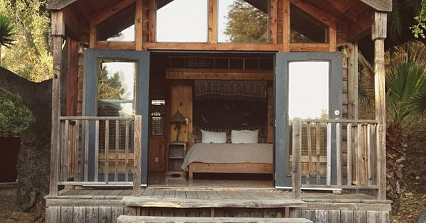 A tiny little cabin one day el capitan canyon santa for Tiny house santa barbara