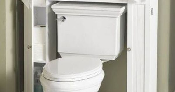 Have a small bathroom try this great extra storage idea for Great bathrooms in small spaces