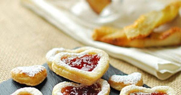 Puff pastry jam tarts tea time style sweets pinterest for Easy jam tarts ready made pastry