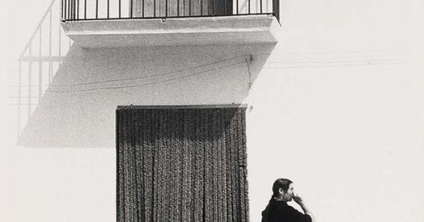 Todd Webb / Ibiza Woman Before Curtain, 1951  mood  Pinterest