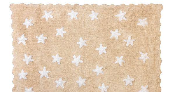 Alfombra beige estrellitas alfombra beige alfombras - Alfombras ninos lavables ...