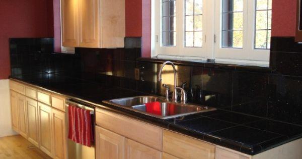 Black Ceramic Tile Countertops Kitchen Design Countertops Countertop Design Kitchen Design