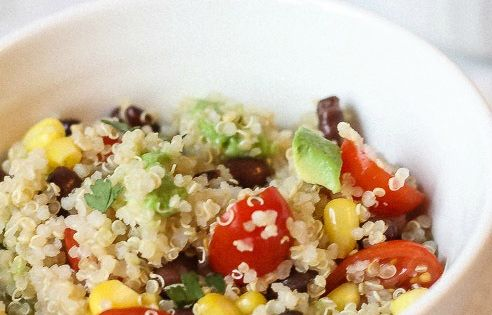 Quinoa Avocado Tomato and Black Bean Salad with Cilantro ...