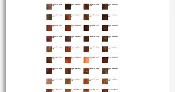 Keune Tinta Color Shades Color Charts Pinterest