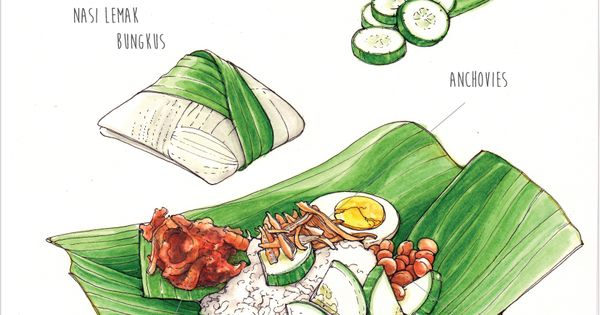 Behance : Nasi Lemak / Food Illustration by Ong Siew Guet ...