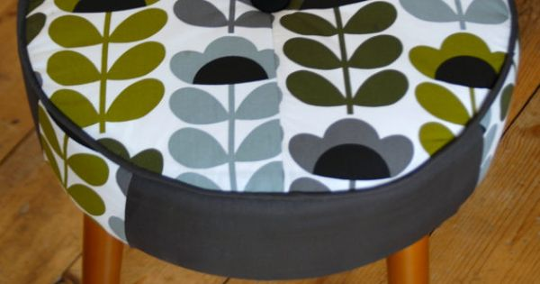 Vintage Sherborne Foot Stool Pouf Stool Covered In Iconic