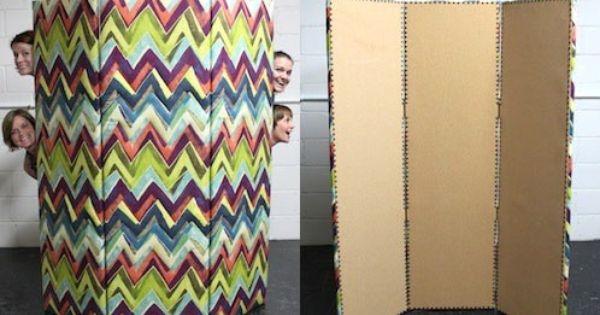 Diy Room Divider Diy 2 Pinterest Fabrics Changing