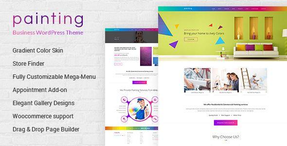 Paint Wordpress Tema Dlya Malyarov Prodazha Kraski I Laka Columns4 Appointmen Wordpress Theme Business Wordpress Themes Wordpress Theme Responsive