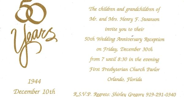 50th Wedding Anniversary Invitation Ideas: 4 Ideas For Homemade 50th Anniversary Invitations