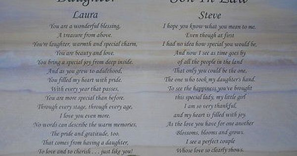 Daughter Son In Law Personalized Poem Christmas Gift