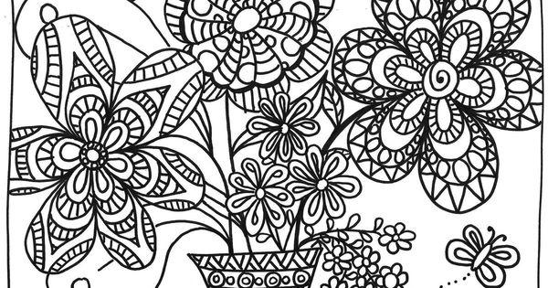 Coloriage bouquet de printemps mandalas and mandala - Coloriage mandala printemps ...