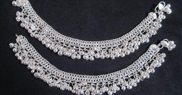 Silver-Anklet | Payal Anklet or Nupur | Pinterest | Silver ...
