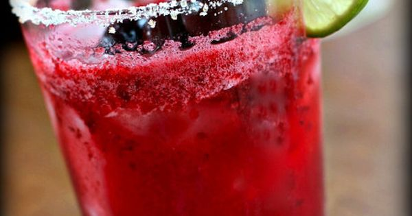 Cherry Lime Rickey : Rim glass with lime, then sugar. Add ice