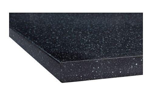 Dishwasher Countertop Moisture Barrier : S?LJAN Blat, czarny mineraL Plan de travail, Black and Brochures