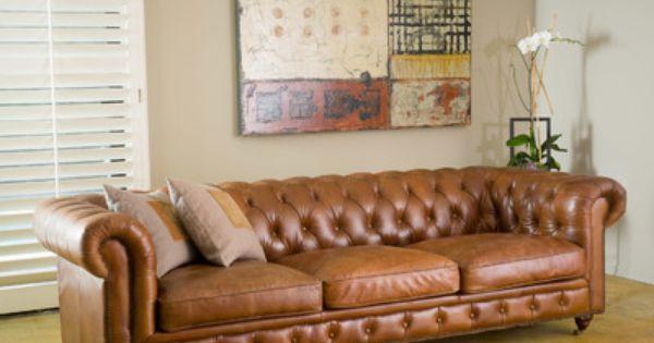 Nia Sleeper | Tufted leather sofa, Leather sofa, Leather