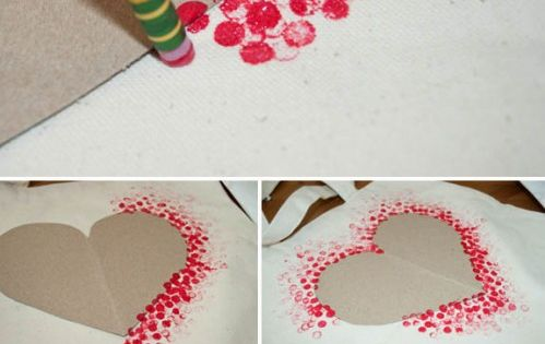 DIY Heart Tote Bag - So fun and easy! Great Craft for