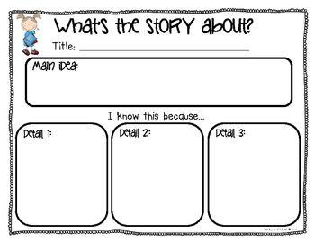 Main Idea Graphic Organizer For Students Main Idea Graphic Organizer Graphic Organizers Teaching Writing Main idea first grade worksheets
