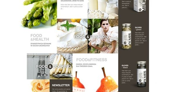Food: web design concept for GoldenSubmarine - designed by Malgorzata Studzinska, Germany