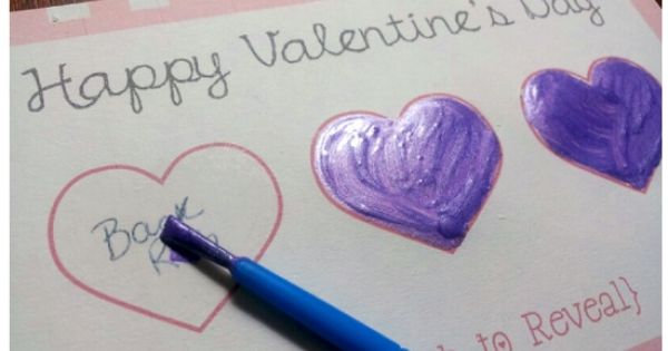 DIY scratch off card! This could be useful at anytime, not just Valentines day!