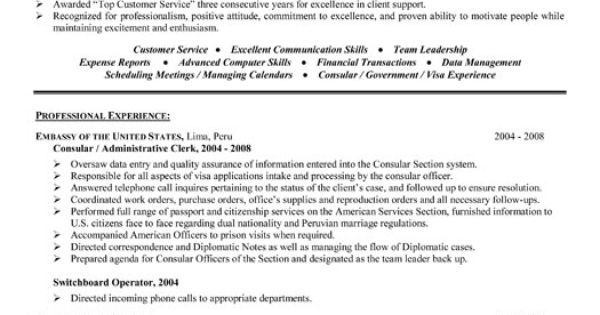 Click Here To Download This Consular Or Administrative Assistant Resume Template! Http://www