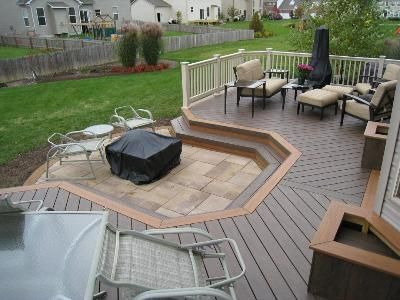 Decks With Paver Fire Pit Areas Google Search Deck Fire Pit
