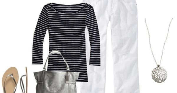 Totally my style. Love stripes.
