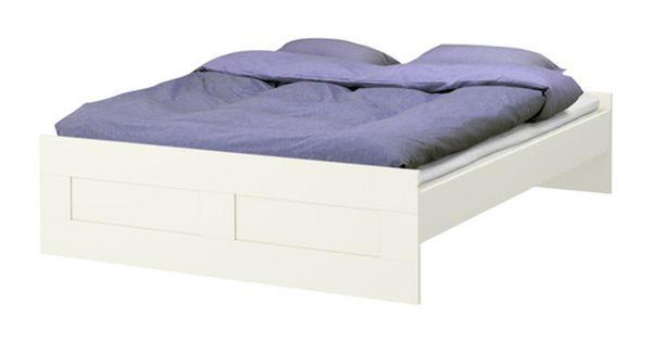 Brimnes Bed Frame With Slatted Bed Base Ikea Adjustable