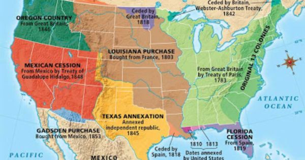 The Map Including Florida Cession From Spain Louisiana - Pics of us map after the louisiana purchase