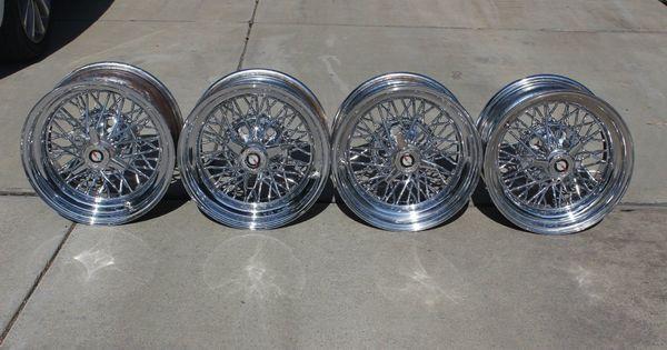 4 15x8 Cragar Weld 50 Spoke Starwire Wire Wheels Hot