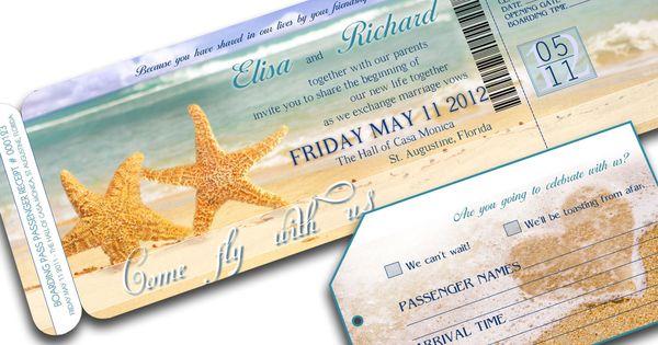 BEACH WEDDING INVITATION printable Destination Wedding - Orlando Suite (Starfish beach wedding