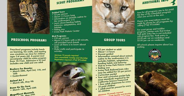 brochure design zoo - Google Search | ART217: Brochure ...