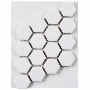 Merola Tile Take Home Sample Metro Hex Matte White 6 In X Porcelain S1fdxmhmw The Depot Mosaic Samples