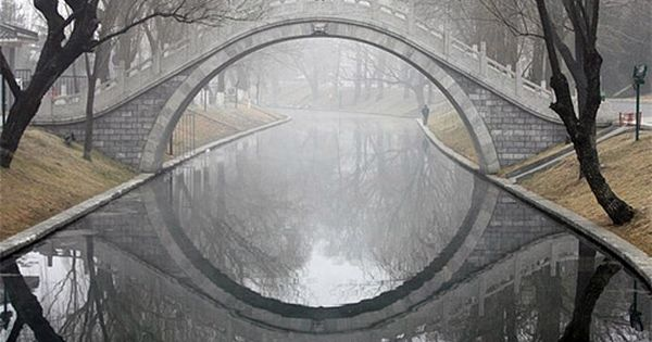 Canal Moon Bridge, The Netherlands - photo via bloodnote. Love that it