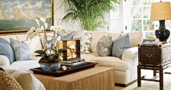 blue and white + neutrals,end table, conversational area for sure. : Vardagsrum : Pinterest ...