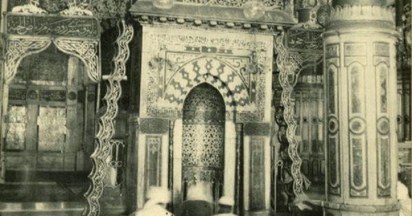 صور معالم مختلفة من الروضة الشريفة المسجد النبوي الشريف عام ١٩٥١ تم التقاط هذه الصور من قبل بعثة مصرية درست ا Islamic Heritage Islamic World Islamic Pictures