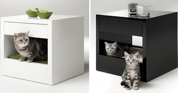maisons et jeux pour chats litiere chat table chevet et jeu pour chat. Black Bedroom Furniture Sets. Home Design Ideas